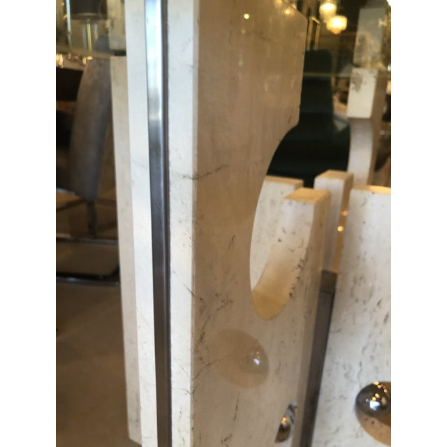 Vintage Modern Marble and Chrome Center or Dining Table For Sale - Image 4 of 14