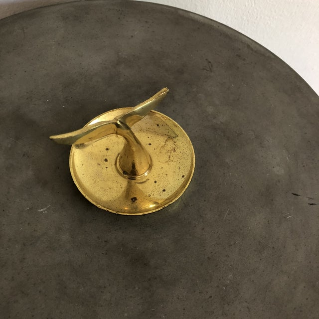 Hollywood Regency Vintage Brass Whale Tail Catchall Dish For Sale - Image 4 of 8