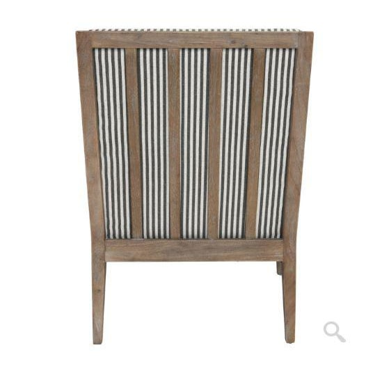 Rustic European Kenneth Ludwig York Striped Occassional Chair For Sale - Image 3 of 8