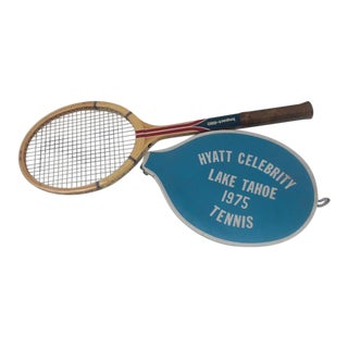 Vintage Spaulding Tennis Racquet With Vinyl Cover For Sale