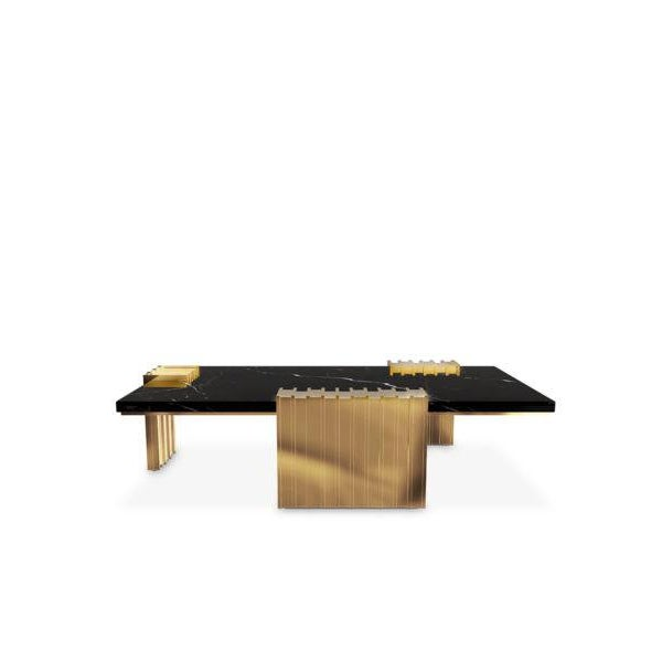 Vertigo center table was made with sleek design giving a classy feel and a luxurious appeal. The unusual forms in gold...