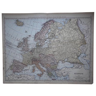 """Antique Map of Europe-27.5""""x21.25"""""""