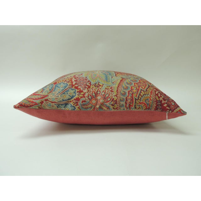 """Early 21st Century Pair of Hand Printed """"Chandigarh"""" Paisley Multi-Color Decorative Pillows For Sale - Image 5 of 7"""