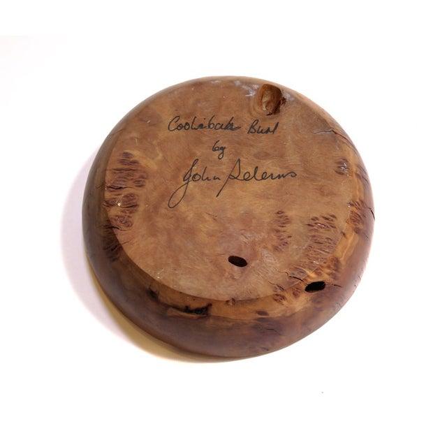 Small Spiral Wood Artisan Dish - Image 5 of 5