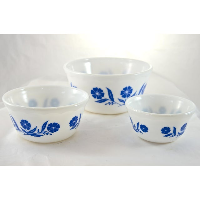 1960s Blue & White Glass Bowls - Set of 3 - Image 3 of 3