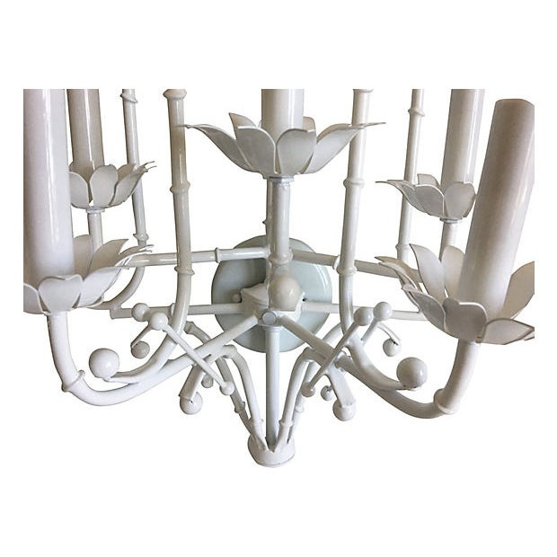 Metal 1950s Italian Bamboo Wall Light For Sale - Image 7 of 9