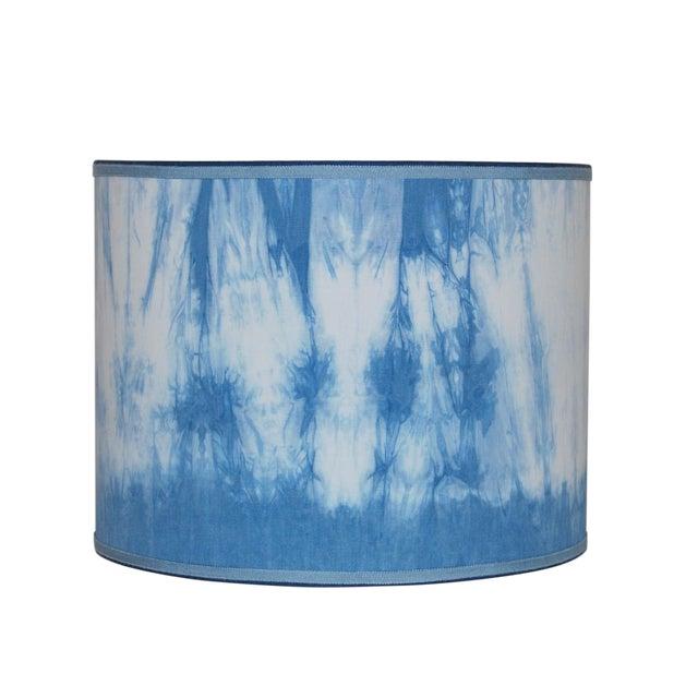 Hand Dyed Shibori Lampshade - Image 1 of 4
