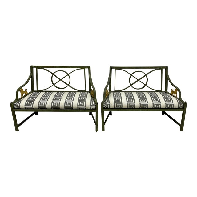 Pair of Neo-Classical Style Benches / Settees For Sale