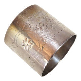 Antique Gorham Sterling Silver Napkin Ring Circa 1882 For Sale