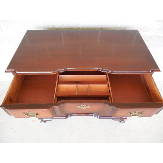 Chippendale KINDEL Chippendale Style Mahogany Block Front Chest For Sale - Image 3 of 11