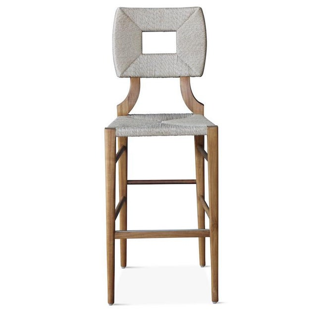 Mid-Century Modern Outdoor How to Marry a Millionaire Counter or Barstool in Charcoal or Sand For Sale - Image 3 of 7