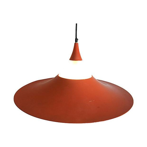 "Burnt Orange 1960s ""Semi"" Pendant Chandelier by Fog & Morup For Sale - Image 8 of 11"
