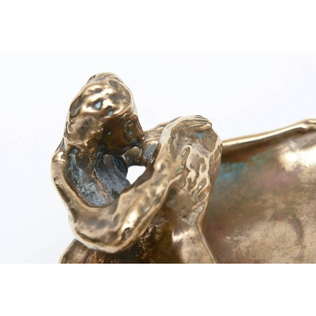 Bronze Sensual and Erotic Lovers Embrace Sculpture - Image 7 of 10