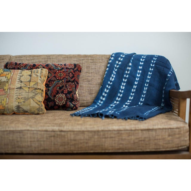 Vintage Hand Woven Batik Blue Throw - Image 2 of 5