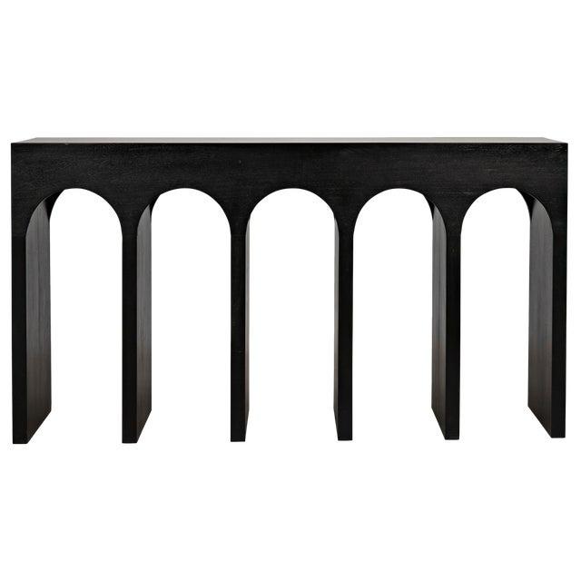 Bridge Console, Hand Rubbed Black For Sale