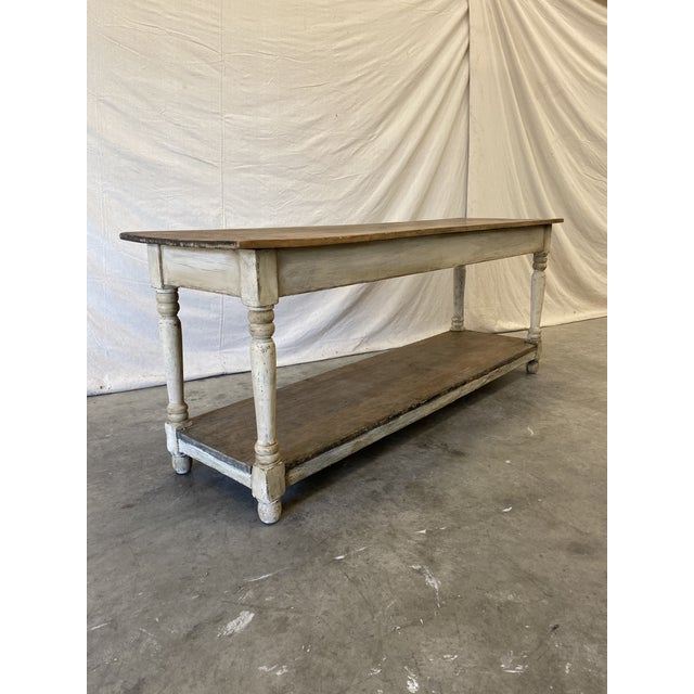 Rustic French Farm Console Table - 19th C For Sale In Austin - Image 6 of 12
