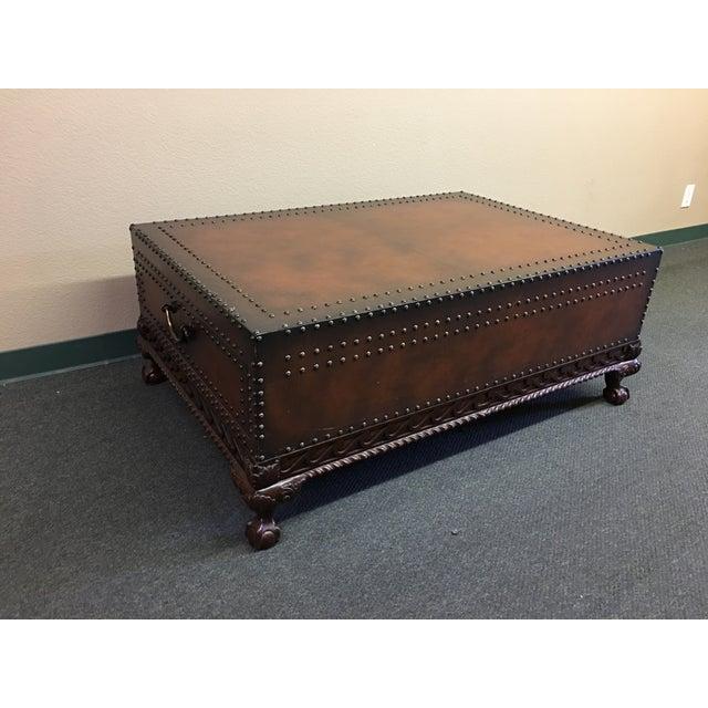 Ralph Lauren Dalton Leather Cocktail Table For Sale - Image 11 of 11