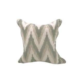 Scalamandre Adras Ikat Pillow, Multi For Sale