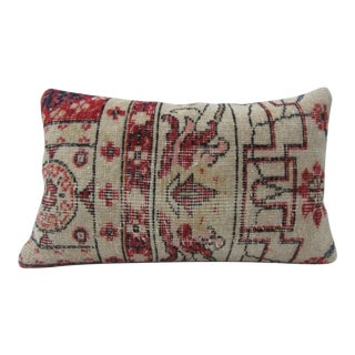 Vintage Handmade Red and White Turkish Kilim Pillow Cover For Sale