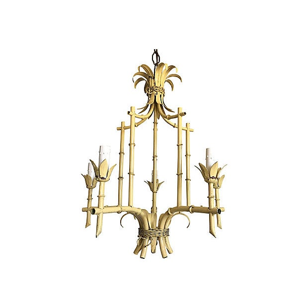 1950s Italian Bamboo Pagoda Chandelier For Sale In Austin - Image 6 of 12