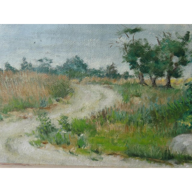 Vintage Landscpe Oil Painting by Russell - Image 8 of 10