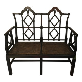 Traditional Ebony Cane Bench