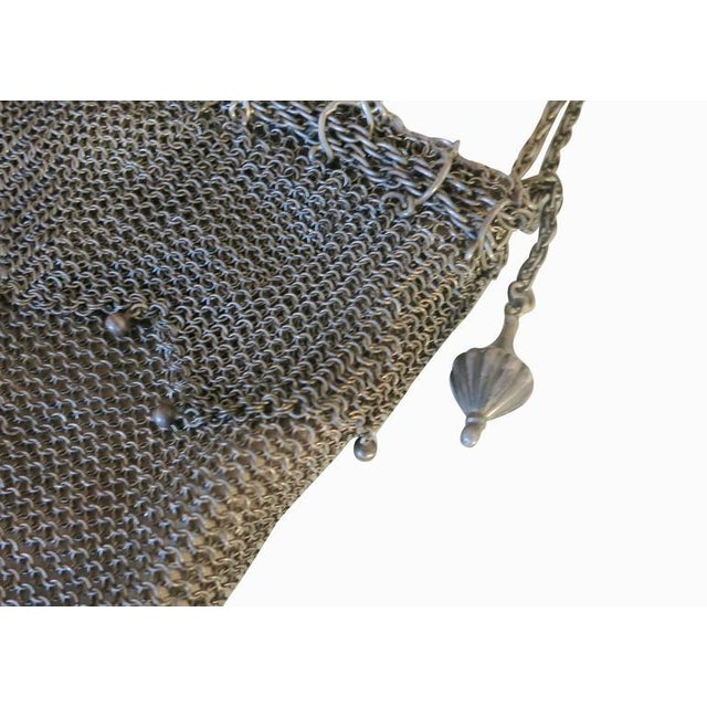 .925 Sterling Silver Mesh Evening Bag Purse - Image 5 of 7