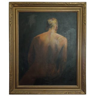 Important Mid-Century Original Painting of a Man by Hollywood Portrait Artist For Sale