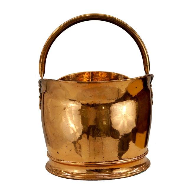 Victorian Copper Coal Scuttle Bucket - Image 2 of 5