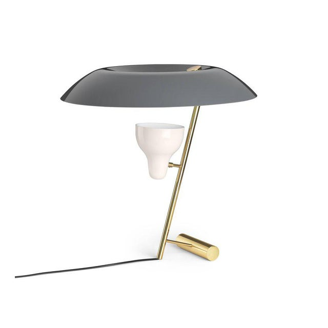 Black Gino Sarfatti Model #548 Table Lamp in Gray and Burnished Brass For Sale - Image 8 of 12