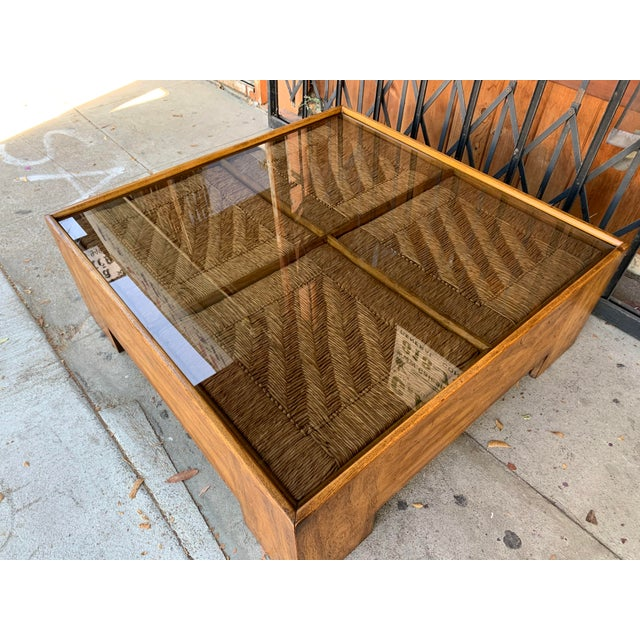 1960s 1960s Mid Century Modern Drexel Heritage Wood Briar Coffee Table For Sale - Image 5 of 13