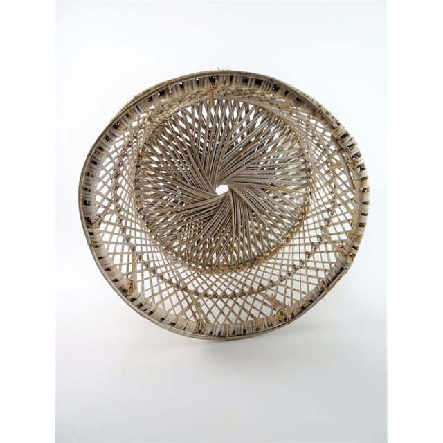 Asian 20th Century Boho Chic Woven Plant Stand For Sale - Image 3 of 8