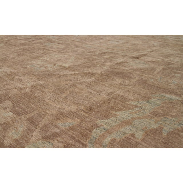 Contemporary Persian Oushak Medallion & Scroll Design Rug - 12′10″ × 13′6″ For Sale - Image 3 of 9