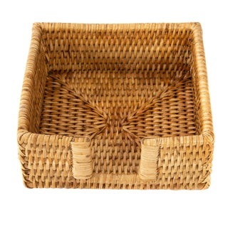 Artifacts Rattan Cocktail Napkin Holder For Sale