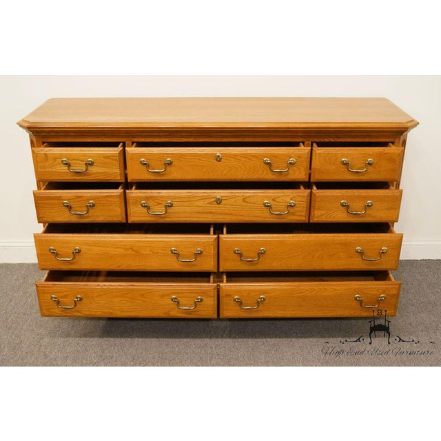 "Sumter Cabinet Co. Solid Oak Country French 64"" Double Dresser For Sale In Kansas City - Image 6 of 13"