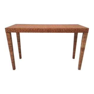 1970s Boho Chic Bielecky Brothers Console Table For Sale