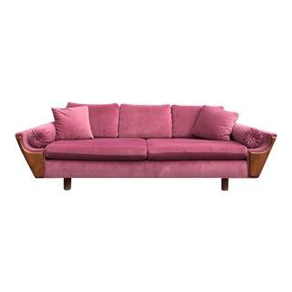 Mid Century Gondola Sofa in a Desert Rose