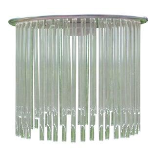 Art Deco Glass Drop Chandelier Ceiling Light Fixture For Sale