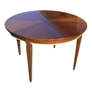 "French Art Deco Round ""Sunburst"" Dining Table Macassar Ebony, Circa 1940"