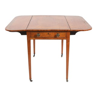 George III Inlaid Satinwood Pembroke Table For Sale
