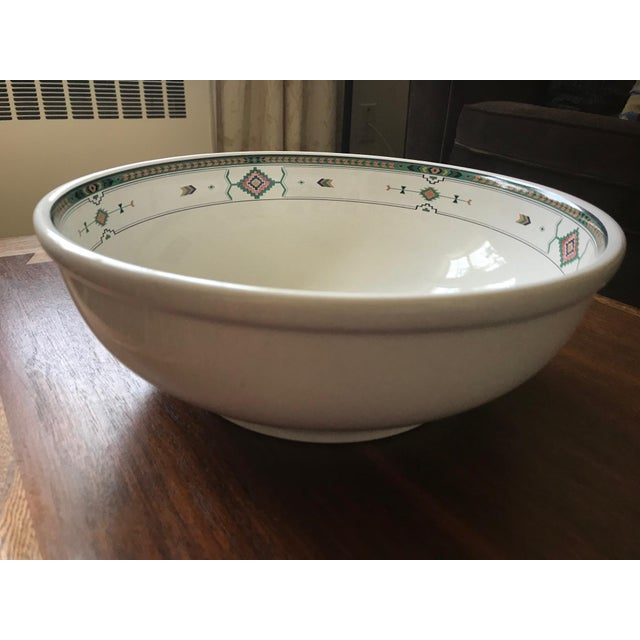 "Large Studio NOVA by Mikasa salad/pasta/mixing bowl in the Aztec-inspired ""Adirondack"" pattern #Y2201. Heavy-weight. Made..."