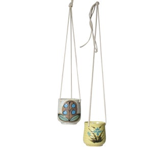 Japanese Mid Century Modern Hanging Planters - a Pair For Sale