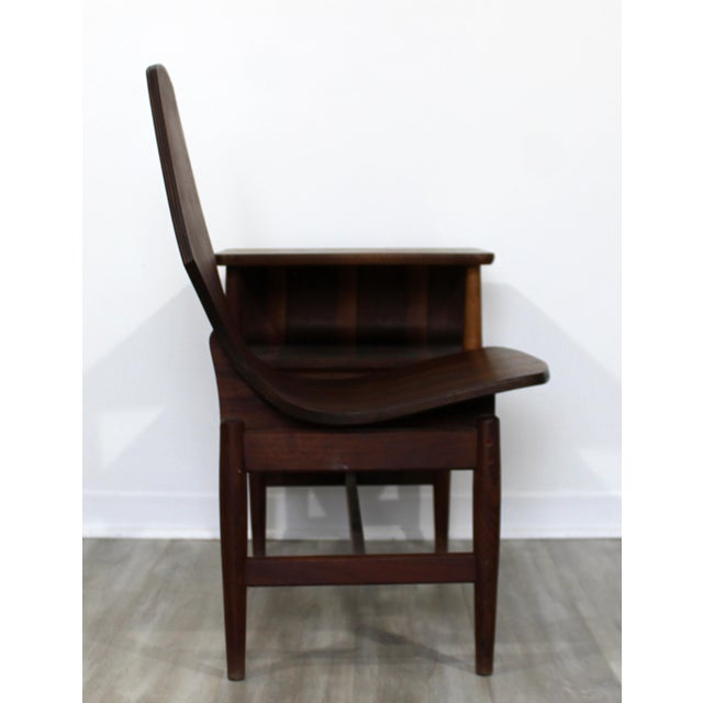 Brown Mid Century Modern Plycraft Bentwood Telephone Gossip Table & Side Chair For Sale - Image 8 of 11