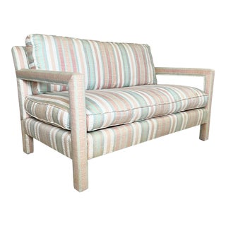 Vintage Parsons Style Loveseat For Sale