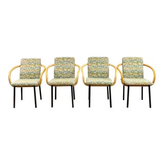1990s Vintage Ettore Sottsass for Knoll Mandarin Dining Chairs- Set of 4 For Sale