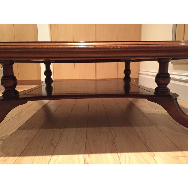 Square Mahogany Coffee Table - Image 8 of 11