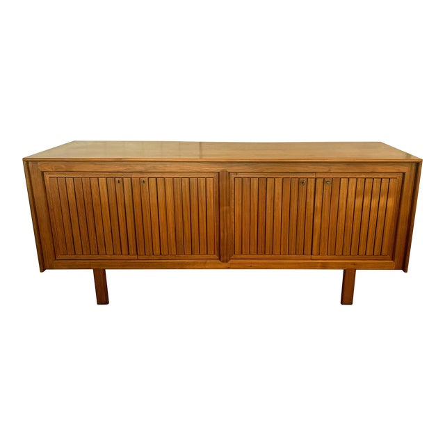 1960s Teak Norwegian Credenza With Key For Sale