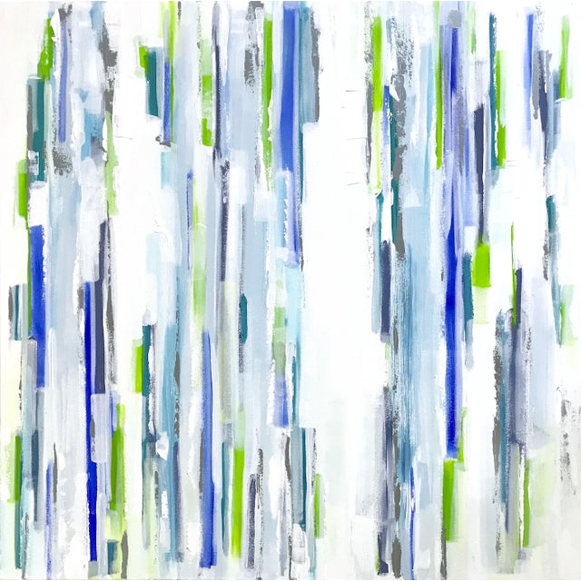 Blue 'Symbiosis' Original Abstract Painting by Linnea Heide For Sale - Image 8 of 8