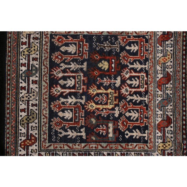 Rug & Kilim Rug & Kilim's Classic Style Rug in Blue and Red Geometric Tribal Pattern For Sale - Image 4 of 5