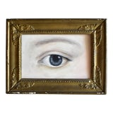 Image of Contemporary Lover's Eye Portrait in an 18th-Century Gilt Frame by S. Carson For Sale